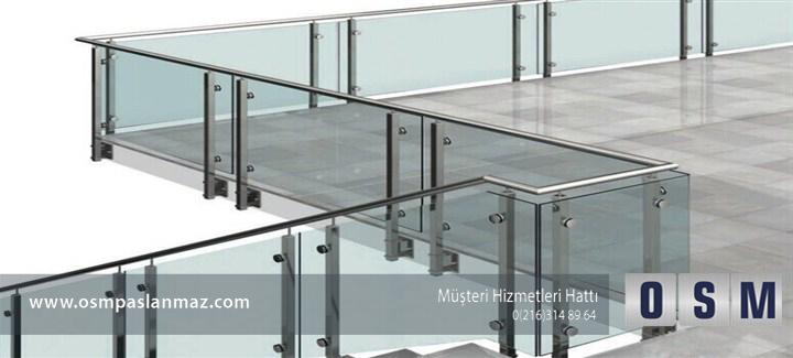Modern çizgide bir mimari için cam korkuluk !