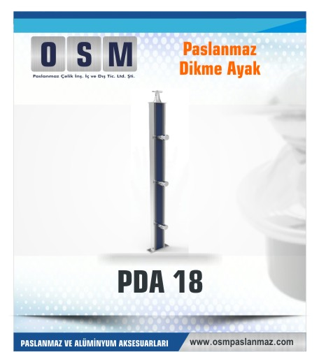 PASLANMAZ DİKME AYAK PDA 018