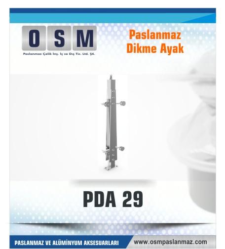 PASLANMAZ DİKME AYAK PDA 029