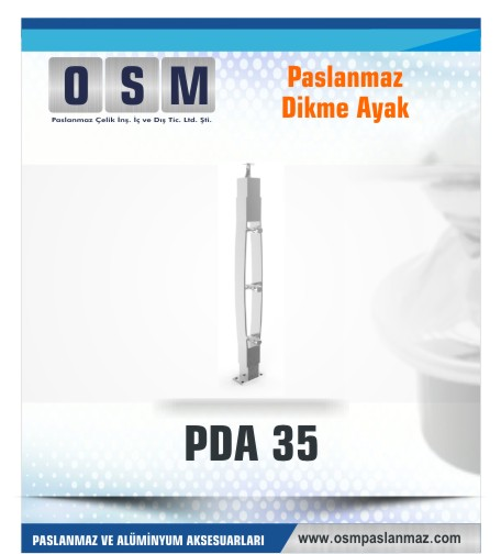 PASLANMAZ DİKME AYAK PDA 035