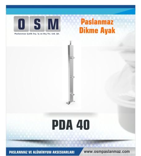 PASLANMAZ DİKME AYAK PDA 040